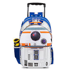 r2 d2 talking light up rolling backpack personalizable παιδικο