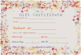 appointment certificate template paint splashes gift certificate template