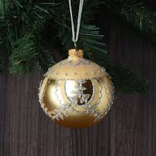 set of 6 luxury glitter european glass ornaments robertson