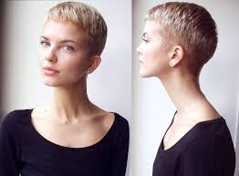 very short pixie hairstyle with saved sides very short pinteres