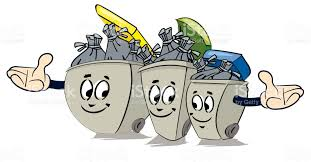 imagenes animadas sobre el reciclaje reciclar basura de dibujos animados con signo de reciclaje arte