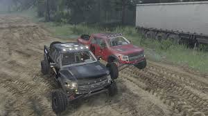 rally truck racing trophy truck race spintires youtube