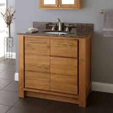 Oak Bathroom Cabinets by Wall Hung Oak Bathroom Cabinet With Pallet And Hung Mirror Wash