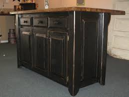 glamorous black distressed kitchen island with raised panel