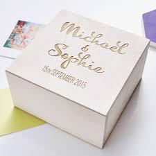 personalised wedding gifts calligraphy personalised couples keepsake box
