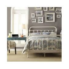 twin antique white vintage victorian iron metal bed headboard