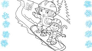 dora coloring book pages dora u0026 boots on the skateboard coloring book pages fun videos for