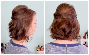 quick half up hairstyle for short hair youtube
