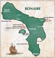 Bonaire Map Dreamwrecks