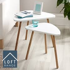 white nest of tables buy loft nesting tables set of two white at home bargains