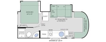 Motorhome Floor Plans Siesta Sprinter Class C Motorhomes Floor Plans Thor Motor Coach