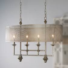 mesh screen shade island chandelier metal mesh candelabra and