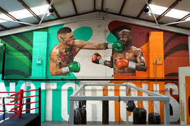 Gym Wall Murals Mcgregor S Coach Puts Up Mayweather Ko Mural In Gym To Aid In The