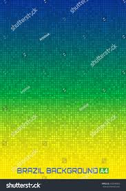 Blank Brazil Flag Abstract Gradient Pixel Digital Background Using Stock Vector