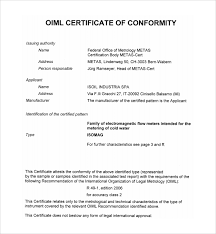 sample conformity certificate template 13 free documents in pdf