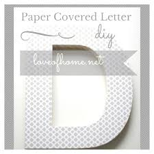 paper covered letter love of home