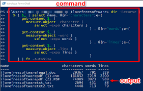 Count Word In Pdf Count Number Of Lines Characters Words In Files Powershell