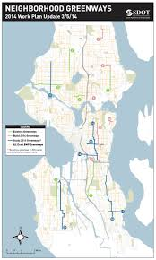 Seattle Neighborhood Map City Building And Planning Neighborhood Greenways In All Corners
