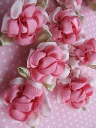 satin ribbon flowers 40 fancy 2 tone satin ribbon flower appliques pink fabric