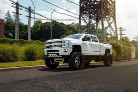 customized chevy trucks white chevy silverado on fuel offroad wheels gets a great lift kit