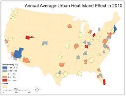 Uga Map Uga Study Ranks U S Cities Based On The Urban Heat Island Effect