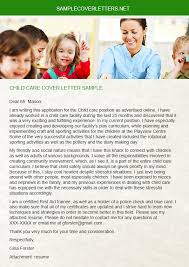 child care cover letter sample sample cover letters