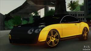 bentley yellow bentley continental gt mansory for gta san andreas
