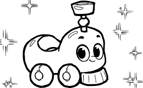 morphle cartoon my cute train coloring page wecoloringpage
