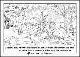 adam eve colouring pages