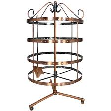 92 pairs copper color rotating earring holder