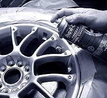 applying wheel coatings