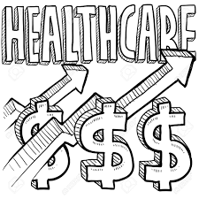 doodle sign up doodle style health care costs increasing illustration in vector
