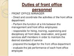 Service Desk Operations Manager Job Description Introduction To Front Office