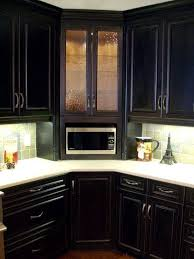 upper cabinets with glass doors corner microwave cabinet winsome corner builtin microwave cabinet