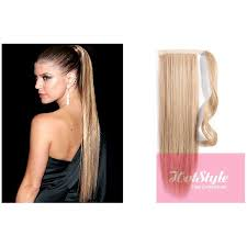 ponytail extension clip in human hair ponytail wrap hair extension 20
