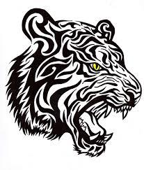 tribal tiger by bathedinsin on deviantart