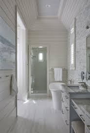 so serene beach house coastal bathroom interior shiplap geoff