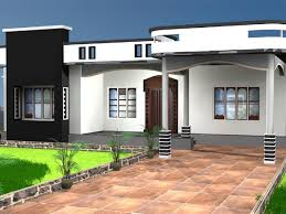 Home Elevation Design Free Download One Storey House Residential Property Max 3ds Max Software