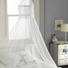 White Bed Canopy White Square Top Bed Canopy Holiday Resort Style Amazon Co Uk
