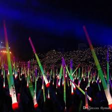 christmas sticks with lights telescopic led glow stick flash light toy fluorescent sword concert