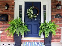 Brick House Front Door | what are the best paint colours for a front door brick house