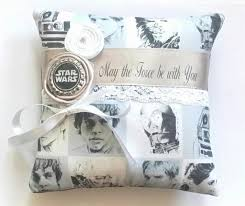 Star Wars Wedding Rings by Star Wars Themed Wedding Ring Pillow 6x6 Inch Pillow