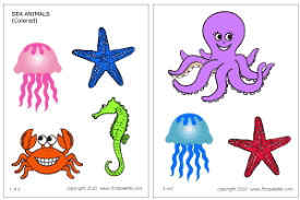 sea animals printable templates u0026 coloring pages firstpalette com