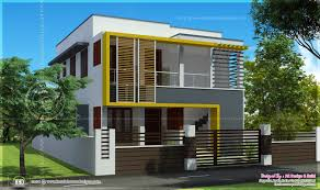 Small Duplex Plans Duplex House Elevation 1000 Sq Feet Each Kerala Home Design And
