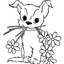 imgs u003e puppy color drawing free printables