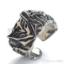 cool jewelry rings images Teboer jewelry cool rock stainless steel transformers large ring jpg
