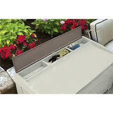 127 gallon deck box with seat suncast corporation