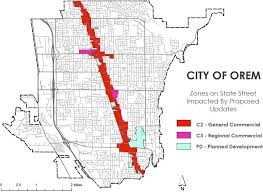 Orem Utah Map by Planning Orem
