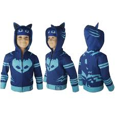 kids boys pj masks catboy connor hoodie jacket pullover cosplay