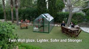 Palram Polycarbonate Greenhouse Setup Palram Mythos Greenhouse Kit Youtube